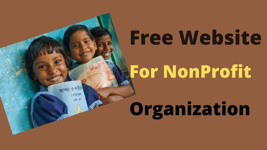 Free website for nonprofit organizations