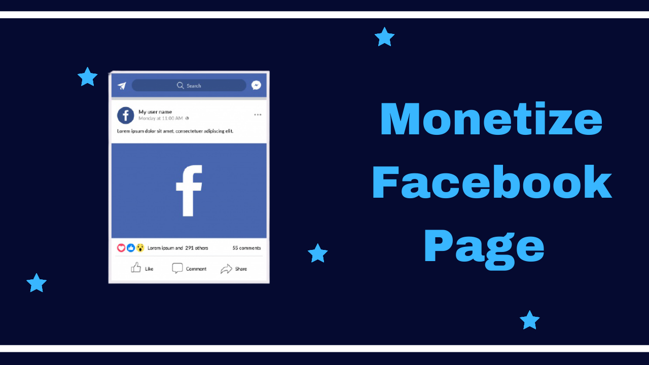 Monetize facebook Page_