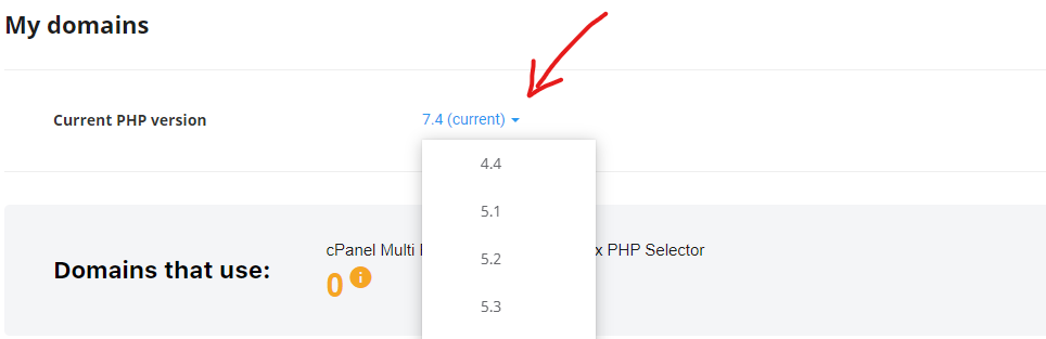 PHP Version in WordPress While Contacting your Host Provider