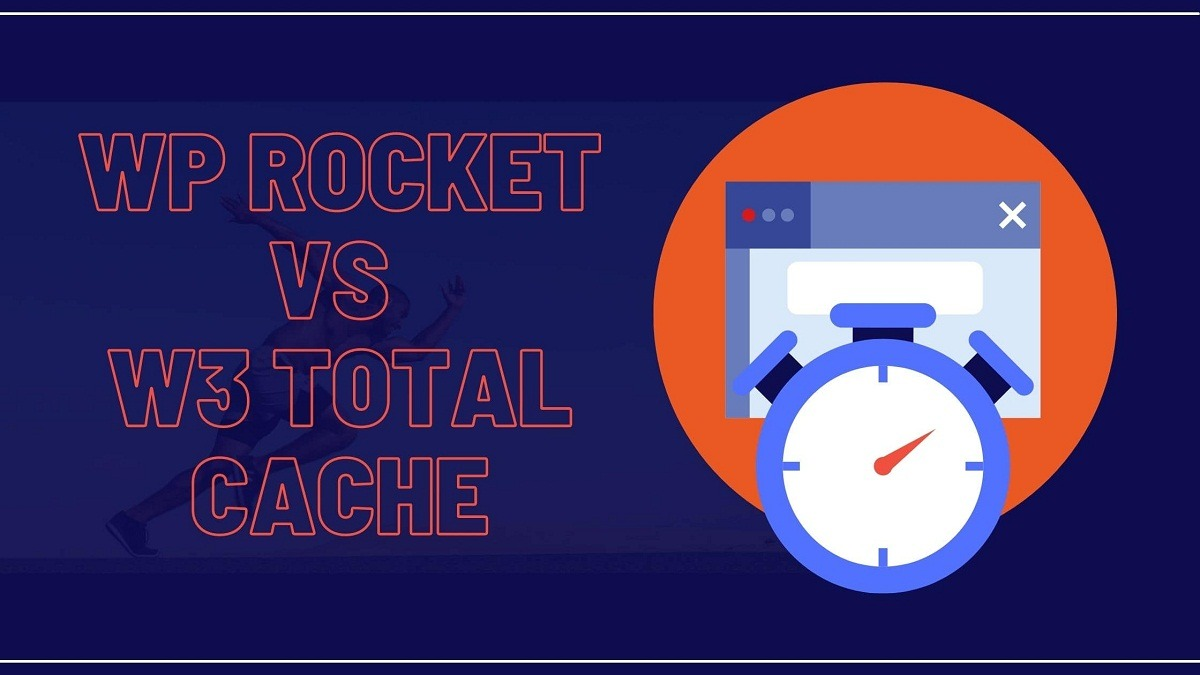 WP Rocket vs W3 Total Cache Featured image graphic